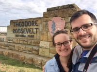 Highway stop at Theodore Roosevelt National Park in North Dakota to view the badlands.