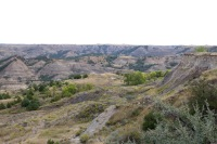 View of the badlands at Theodore Roosevelt National Park in North Dakota.