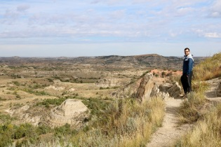 Adam checking out the badlands at Theodore Roosevelt National Park in North Dakota.