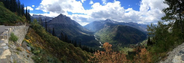 Beautiful valley along Going-to-the-Sun Road in Glacier National Park.