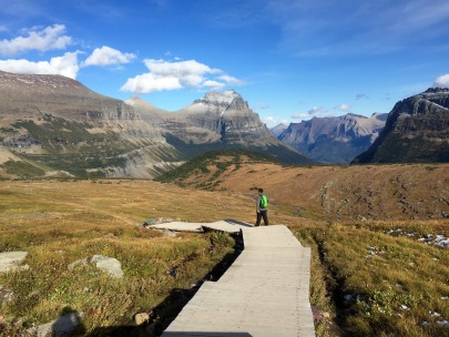 Adam on the way back to the trailhead at Logan Pass in Glacier National Park.