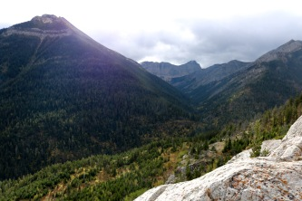 Beautiful views on Bear's Hump trail in Waterton Lakes National Park.
