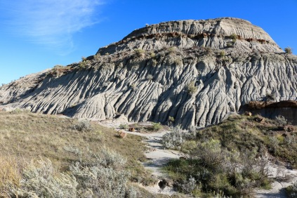 Badlands in Dinosaur Provincial Park.