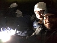 Bundled up for a fall camping sleep. It got down to 1 degree Celsius this night.
