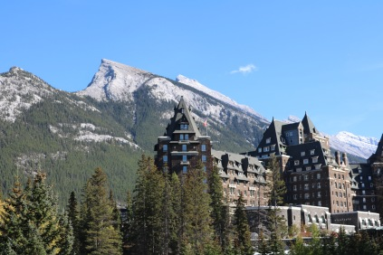 The beautiful Fairmont Banff Springs in Banff National Park.