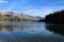 Johnson Lake along the Lake Minnewanka Sceinc Loop in Banff National Park.