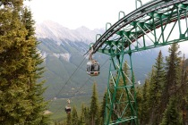 Banff Gondola at the top of Sulphur Mountain in Banff National Park.