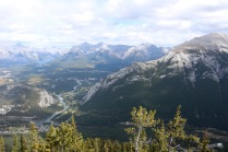 View from the Summit Ridge boardwalk on the top of Sulphur Mountain in Banff National Park.