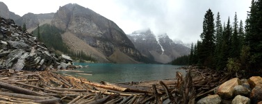 Moraine Lake in Banff National Park .