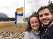 Crossing the British Columbia provincial line on the TransCanada Highway.