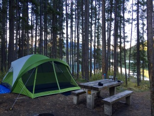 Our campsite at Two Jack Lakeside, Banff NP.