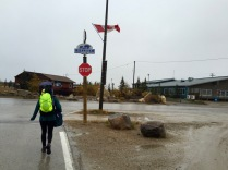 Our walk to our B&B in Churchill, Manitoba
