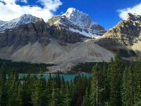 Hector Lake - Banff's largest natural lake along the Icefields Parkway.