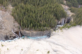 Glacier Skywalk is 918 feet above Sunwapta Valley along the Icefields Parkway.