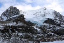 A view of Mount Andromeda from the Athabasca Glacier in the Columbia Icefield.