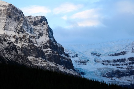 Mount Stutfield and Glacier along the Icefields Parkway