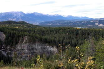 Beautiful view of Jasper and surrounding area of Maligne Canyon in Jasper National Park.
