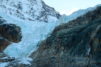 Angel Glacier on Mount Edith Cavell in Jasper National Park.