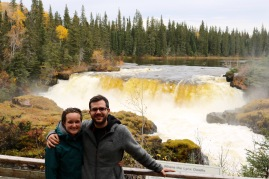 Pisew Falls in Pisew Falls Provincial Park, Manitoba