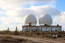 "The abandoned radar station, AKA ""the golf balls"" in Churchill, MB"