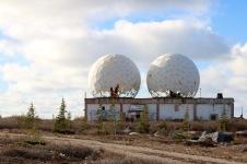 "The abandoned radar station, AKA ""the golf balls"" in Churchill, MB"