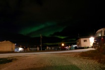 A small glimpse of the Northern Lights! (we're clearly still working on our Aurora photography skills)