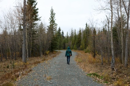 Flinty's Trail along Ross Lake in Flin Flon, MB