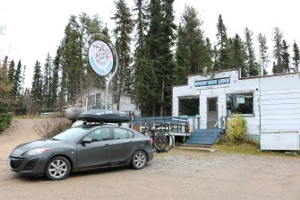 """We stopped briefly at the Moose Horn Lodge on the shore of Little Bear Lake as an """"only gas for miles"""" kind of stop - it had all the charm you would hope to find in rural Saskatchewan!"""