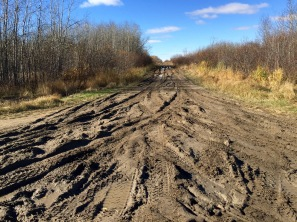 Pleasantly lost on a muddy sideroad, somewhere in Saskatchewan.