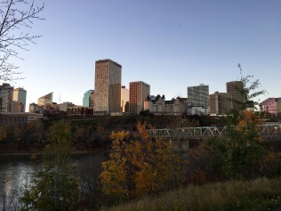 View of downtown Edmonton from across the North Saskatchewan River