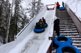 Snowtubing at Aurora Village