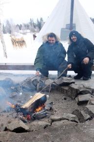 Roasting mallows at Aurora Village