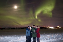 Amazing Aurora Borealis show over the Dettah Iceroad