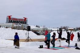 Snow Yoga at the Jamboree