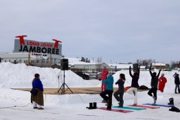 Snow Yoga at the Jamboree