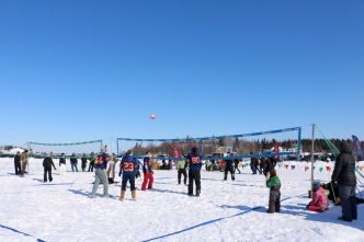 Snow Beach Volleyball at the Jamboree