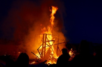 The Long John Jamboree huuuuge bonfire