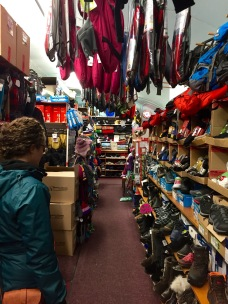 Winter clothing shopping at Weaver and Devore in Yellowknife, NT. This tiny shop located above a convenience store in Old Town is a one stop shop for some of the best (and most expensive) Canadian-made winter gear including brands Canada Goose and Outdoor Survival Canada.