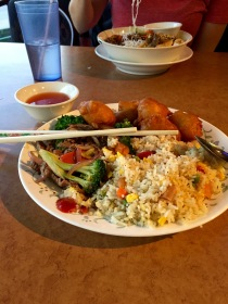 "Enjoying some ""local"" Vietnamese cuisine at the Vietnamese Noodle House in Yellowknife, NT."