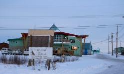 Made it to Dettah on the ice road from Yellowknife!