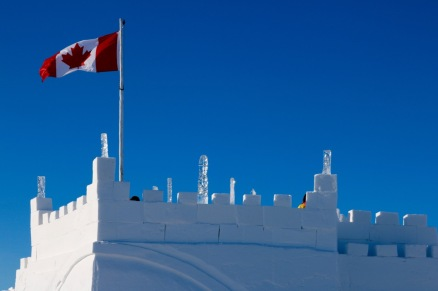 The Snowking Castle on Great Slave Lake's Yellowknife Bay