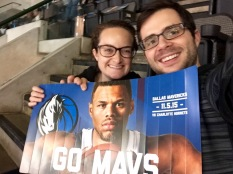 At the American Airline Centre in Dallas, TX to see the Dallas Mavericks!