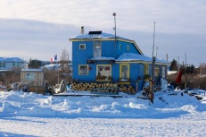 Snowking's Houseboat on Great Slave Lake's Yellowknife Bay