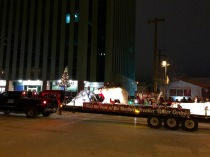 The Santa Clause Parade on Franklin (just outside our building).