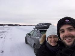 Ice road adventures begin!