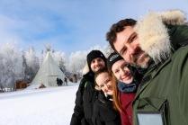 Group selfie at Aurora Village