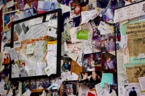 Bullock's Bistro's walls are covered in its patron's memorabilia