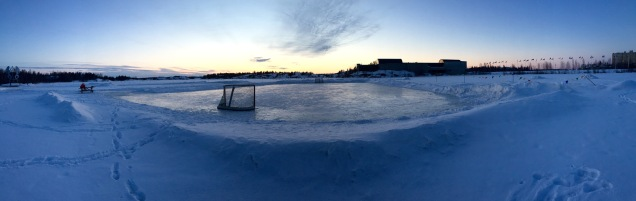 Hockey on Frame Lake