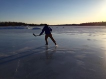 Skating around on Frame Lake