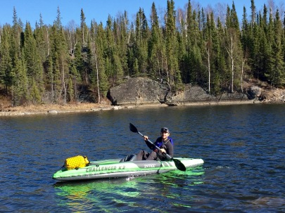 Kayaking on Vee Lake